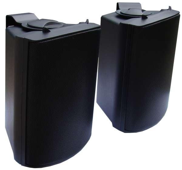 Lautsprecherboxen 2x110 Watt mit Bügel Schwarz