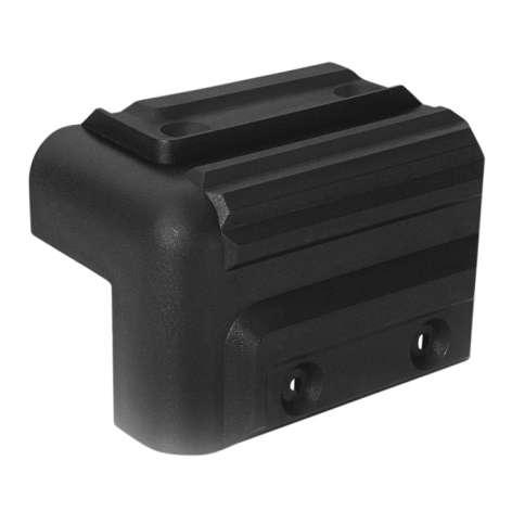 Schutzecke Kunststoff Schwarz Stapelbar 84x52x52mm