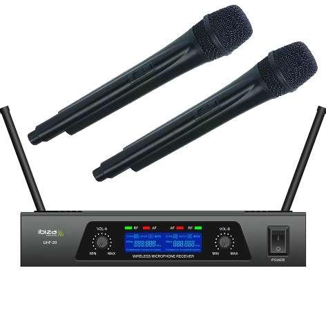 Funkmikrofon 2er Set 863Mhz