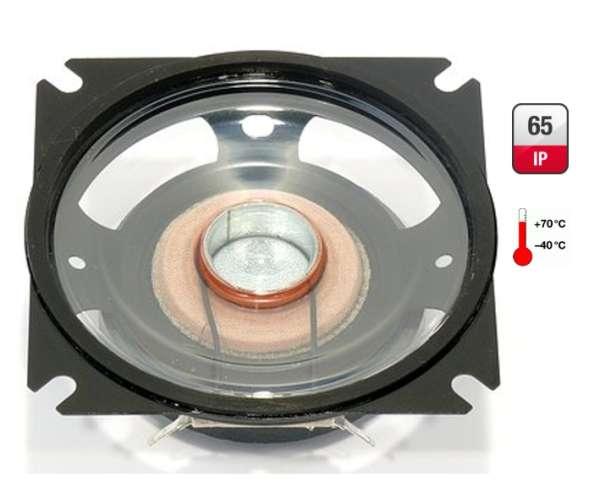 83x83mm Lautsprecher 4Ohm 30W IP65 Breitband Spritzwasserfest