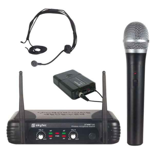 Funkmikrofon Set Headset und Handmikrofon mit Funkempfänger