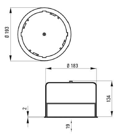 EGT14/2 Schutztopf Eingiesstopf für Betondecken zu WHD zu UP14