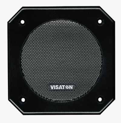 11cm Lautsprecherabdeckung Gitter quadratisch Kunststoff 114x114mm