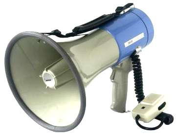 Megafon ER66S 25W Megaphon mit Sirene Kabelmikrofon