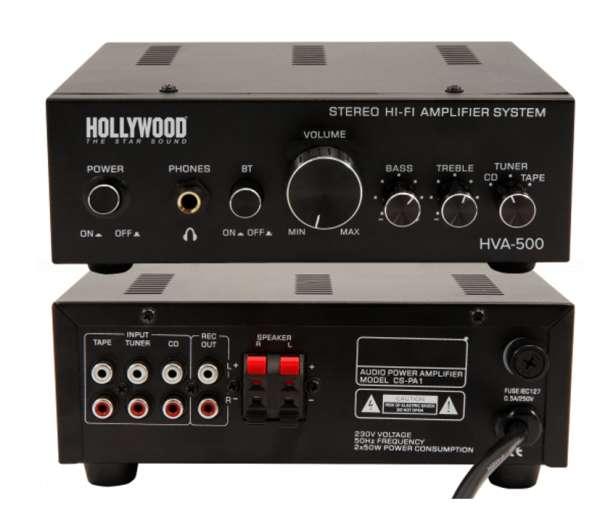 Verstärker HAV500 Mini-Verstärker 2x100W 2Kanal Stereo mit Bluetooth