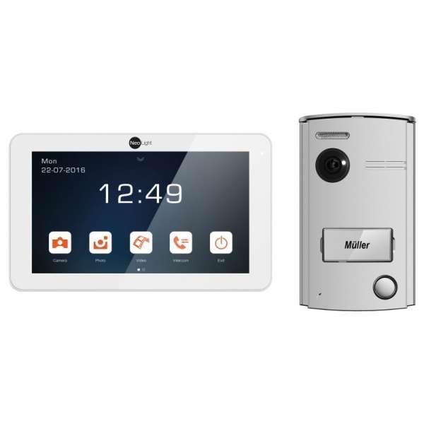 Kamera Türsprechanlage 2-Draht für 1-Familienhaus mit Touch Monitor Porta7 Türsprech Sprechanlage