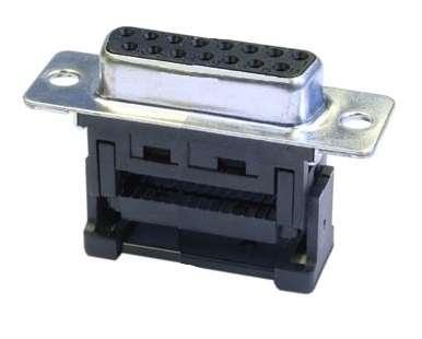 SUB-D 15pol Buchse Schneid-Klemm 2-reihig für Flachbandkabel