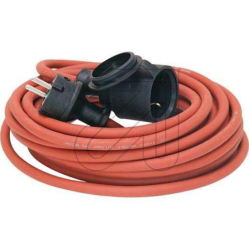 25m Stromverlängerung Gummikabel 3 x 1,5qmm Rot zB für Rasenmäher