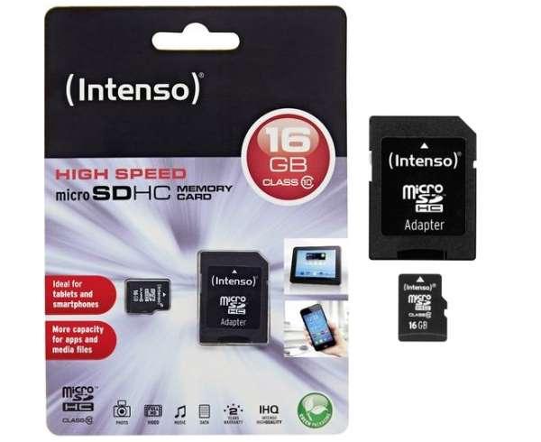 16GB SD Karte Micro SDHC Speicherkarte mit SD-Adapter Class10