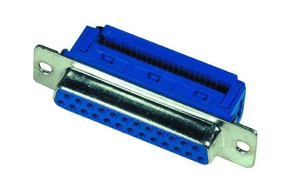 SUB-D 25pol Buchse Schneid-Klemm 2-reihig für Flachbandkabel