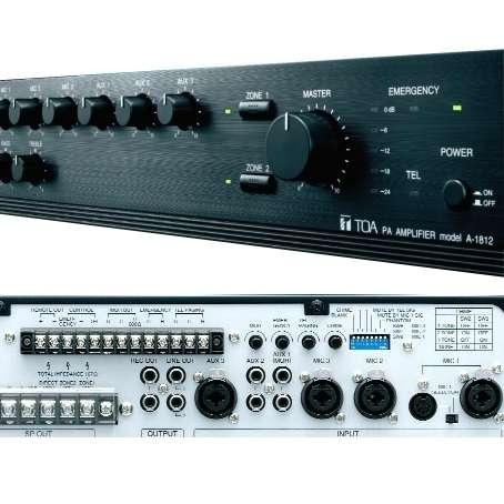 ELA Verstärker TOA A1812 mit 120/240W 230+24V