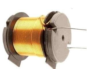 Spule 8,2mH 0,95mm Draht 0,65R 45x43mm Rollenkern