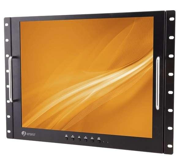 19zoll Rack Monitor 480mm (19zoll) Bildschirm BNC Video VGA HDMI Eingang
