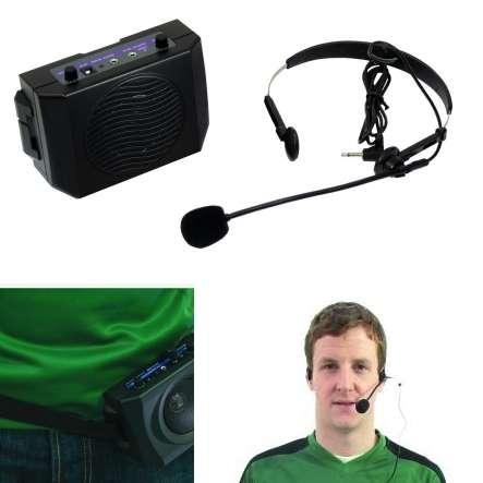 Rednermikrofon Headset mit Verstärker und Gürtelclip BDH2