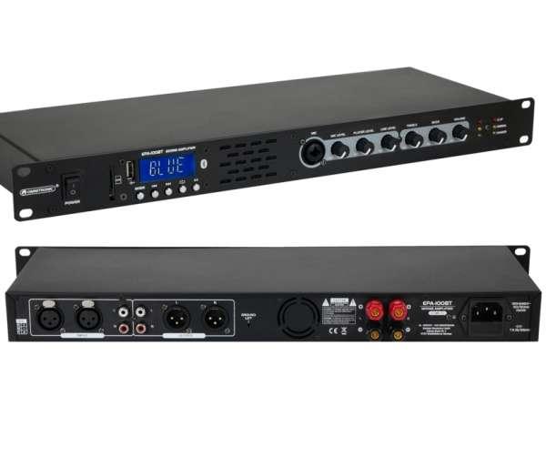 Stereo Verstärker 2x50W Mischverstärker 19zoll Endstufe mit USB+SD Bluetooth Audioplayer