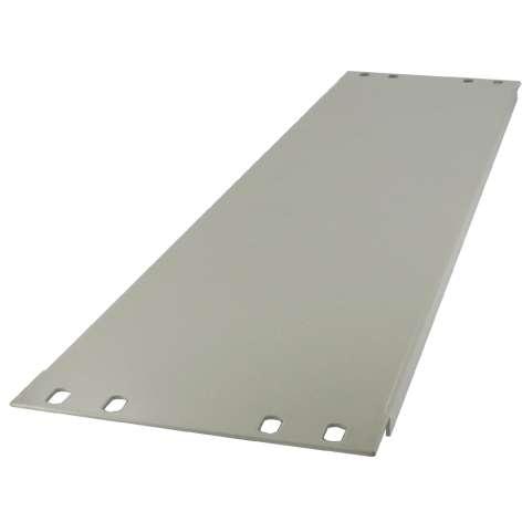 3HE Rackblende Blindplatte Stahl 483x132mm Kieselgrau