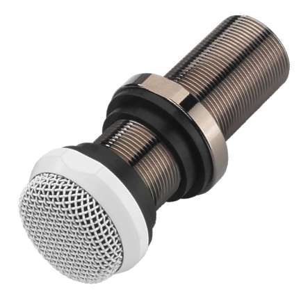 Einbaumikrofon Electretmikrofon 30-17000Hz Mikrofon Weiss