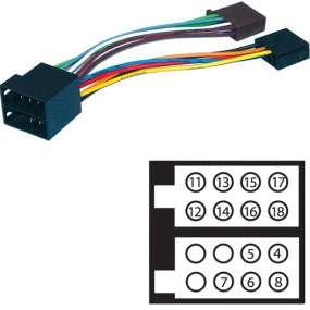 Autoradio Adapter ISO Lautsprecher und Strom