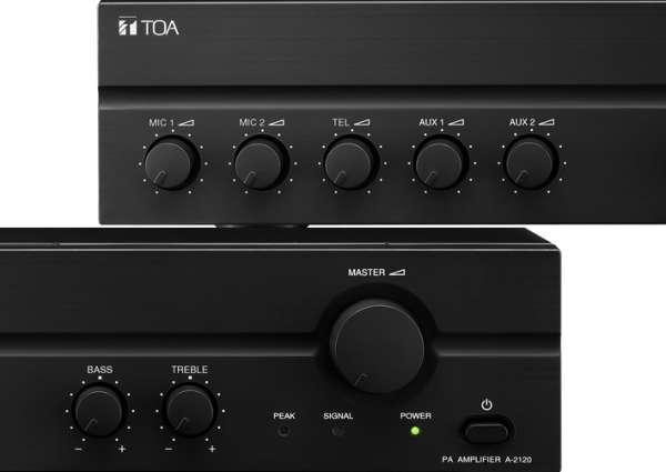 ELA Verstärker 180W A2120 230V+24V ELA 100V und 4-8ohm 5Eingänge
