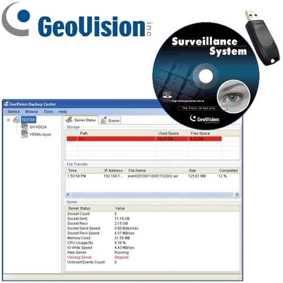 Zusatzsoftware Geovision GV Backup Center