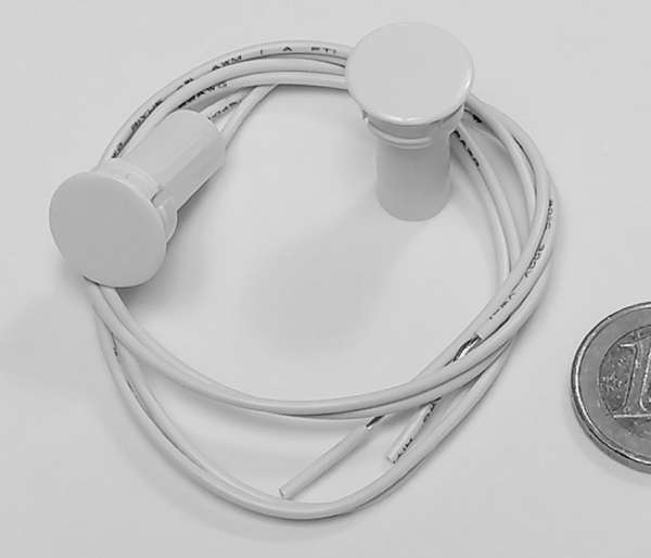 Magnetkontakt Einbau Reedkontakt NC Öffner 15mm Reedschalter Weiss