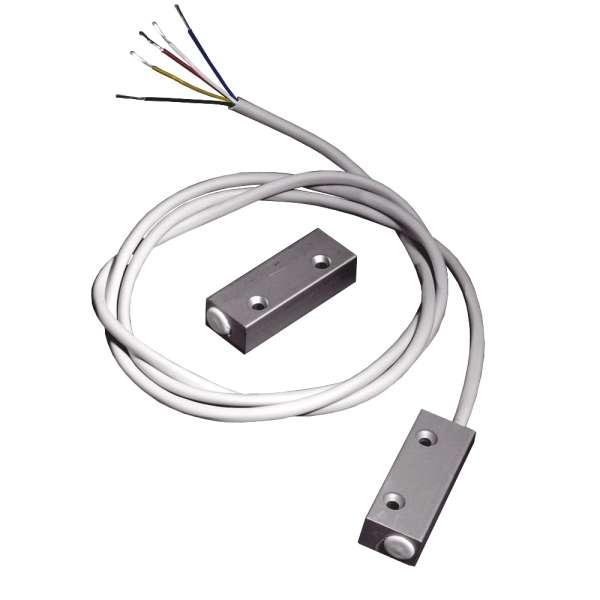 Magnetkontakt ALU Reedkontakt NC-NO Wechsler mit 1m Kabel Reedschalter