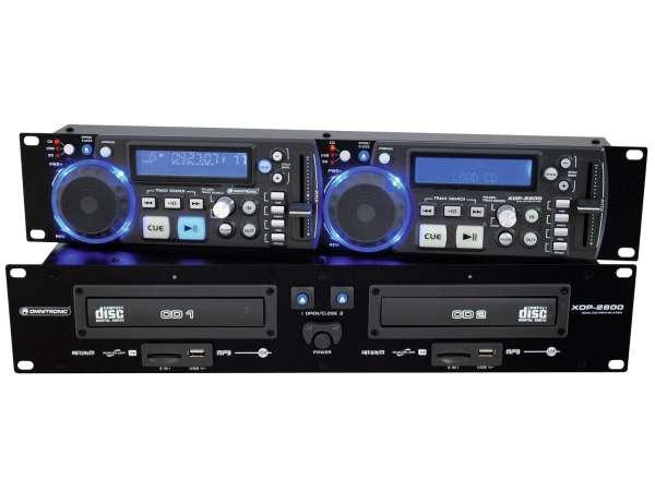 Doppel CD Player mit MP3 USB XDP2800 Rackeinbau