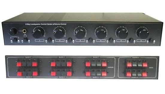 Lautsprecherschalter Regelpult für bis zu 6 Paare (4-8-16Ohm)