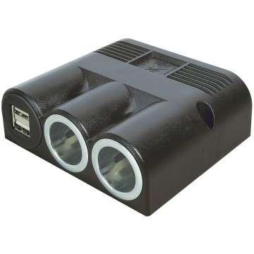 Zigarettenanzünder Aufbau Steckdose für 12V 24V bis 16A mit USB