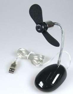 Lüfter USB Tisch Ventilator im Maus Design