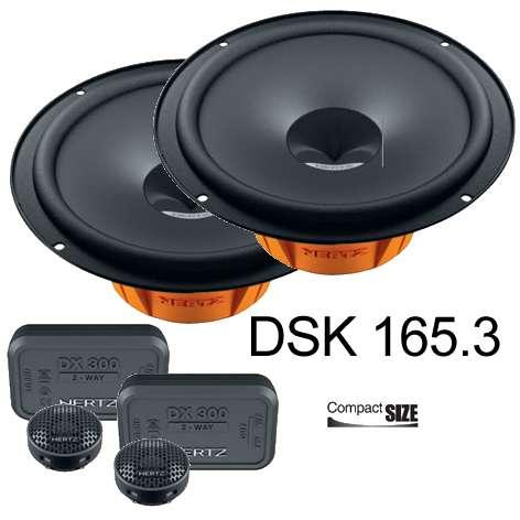 Autolautsprecher 165mm DSK165.3 Dieci Compo System Paar