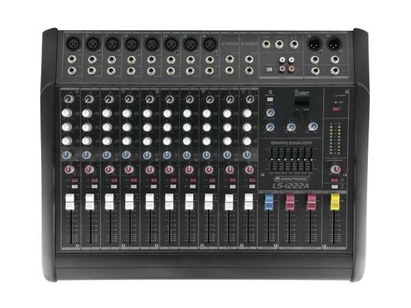 Power Mixer Mischpult 2x300Watt Verstärker LS1222A 12Kanal Mixer