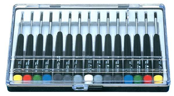 Schraubendreher Set 15-tlg Mini Schlitz Kreuz Torx Stift