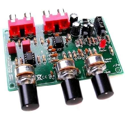 Bausatz Vorverstärker Stereo mit 3 Potis Klangregler