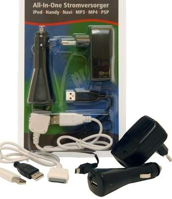5V USB Netzteil mit Mini USB Kabel und mit KFZ Ladegerät SET