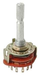 Schalter Drehschalter 6-stufig 2-Schaltkontakte 6mm Lötöse
