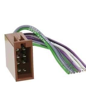 Autoradio Adapter ISO Stecker zu Lautsprecher mit leeren Kabelenden