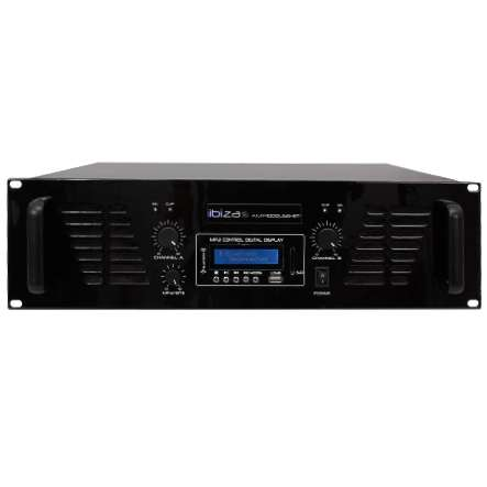 PA Verstärker Endstufe 2x800W Bluetooth USB SD MP3 Player 19zoll