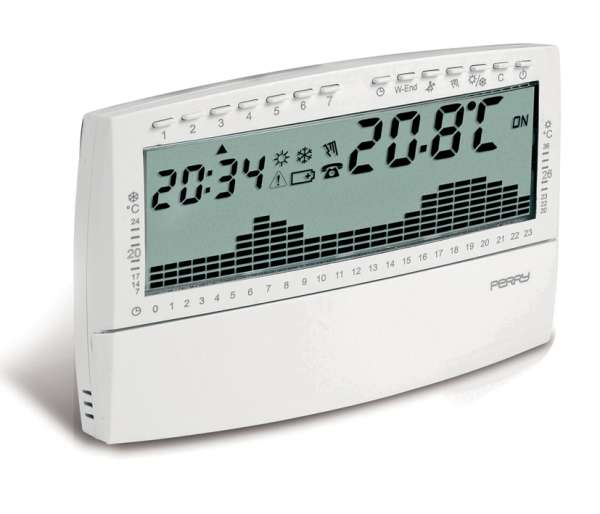 Digitaler Thermostat Uhrenthermostat Wandmontage Reinweiss