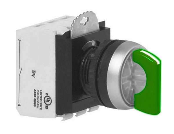 Schalter Drehschalter Netzschalter 6A Wechslerkontakt GRÜN mit LED