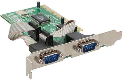 PCI Steckkarte 2x RS232 serielle V24 PC Karte