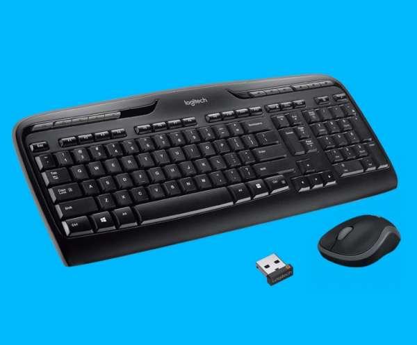 SET Funktastatur mit Funkmaus Logitech MK330 Wireless mit USB Empfänger