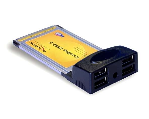 PCMCIA USB Adapter 4x USB2 DELOCK
