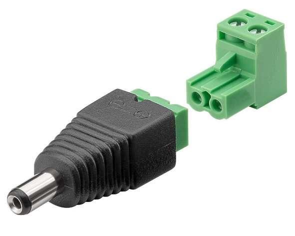 Adapter Hohlstecker 5,5x2,1mm auf Klemme Schraubanschluss 2Draht Adapter