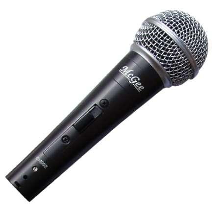 Mikrofon Kabelmikrofon dynamisch Metallausführung MCGee Profi
