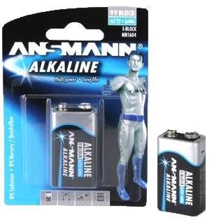 9V Batterie Alkaline E-Block 6LF22 9V Block