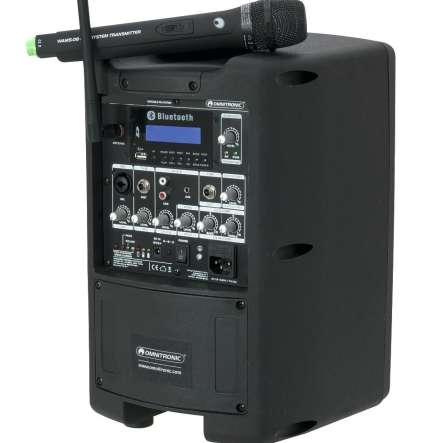 Mobile Musikanlage mit Bluetooth USB-SD MP3 Player Funkmikrofon