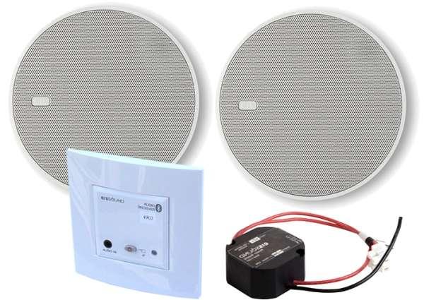 Bluetooth Deckenlautsprecher Set mit Einbau Verstärker Unterputz InWall