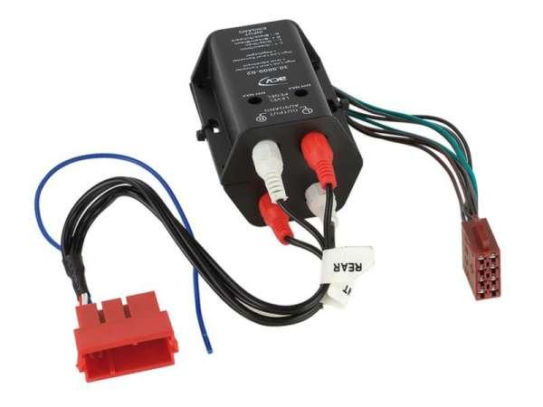 Autoradio Adapter DIN ISO auf Cinch oder Mini-ISO AUDI A3 A4 A6 A8 TT Vollaktivsystem Radio auf Ends