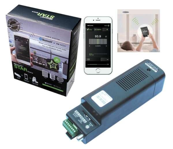 Decken Radio Set mit Verstärker Bluetooth APP UKW DAB+ für Büro Praxis Küche Bad